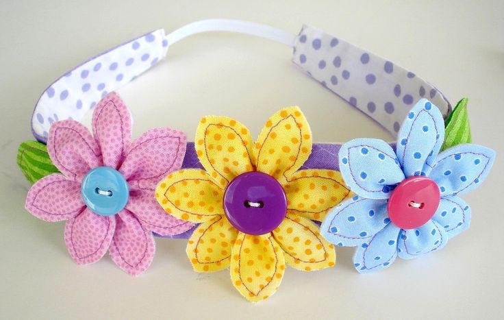 Sewing Pattern - Flowers, Leaf & Narrow Headband - PDF e-Pattern. $3.99, via Etsy.