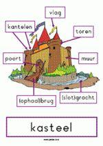 plaat kasteel met woorden