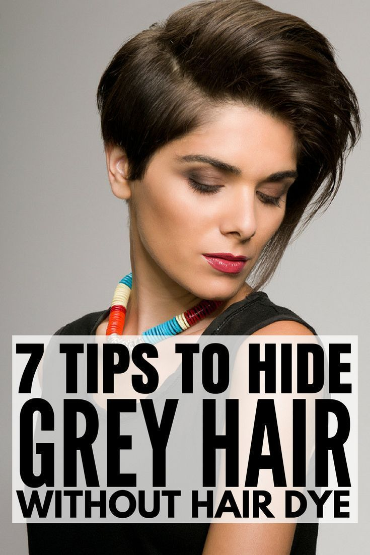 Preventing And Hiding Gray Hair Without Permanent Hair Dye Gray