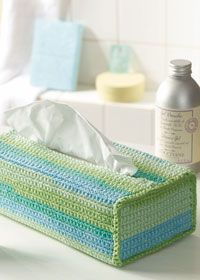 Free crochet pattern - tissue box cover
