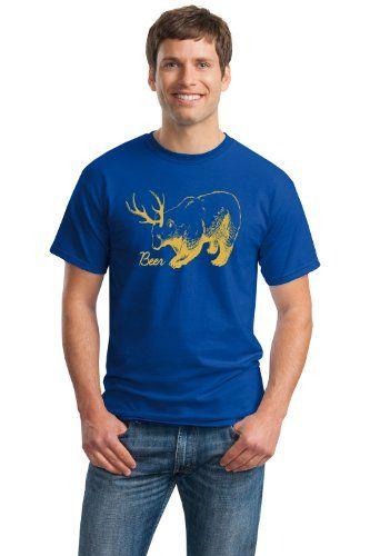 DEER BEAR = BEER Adult Unisex T-shirt / Funny Deer Hunting / Hunt Humor Tee
