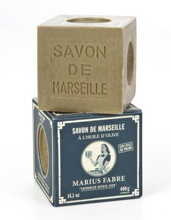 Savon de Marseille à l'huile d'olive.