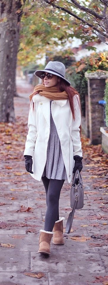 How to wear dress with ugg boots