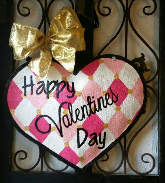 Check out this item in my Etsy shop https://www.etsy.com/listing/261126050/valentines-day-burlap-door-hanger-hand