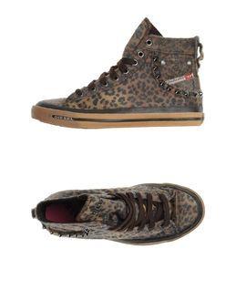 High Top Sneakers For Women | Diesel Brown Women's High-top Sneaker