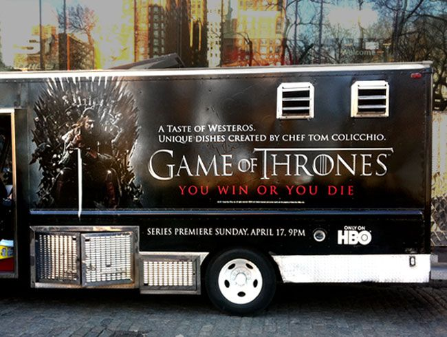 HBO Game Of Thrones Promotional Celbrity Chef Food Truck