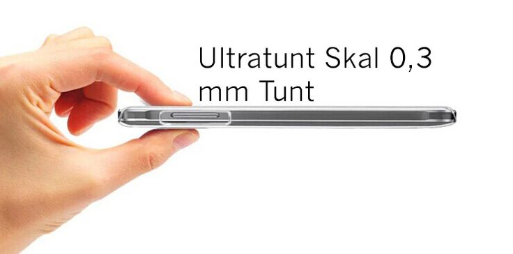 Ultratunt skal 0,3 mm tunt till iPhone at Slixz