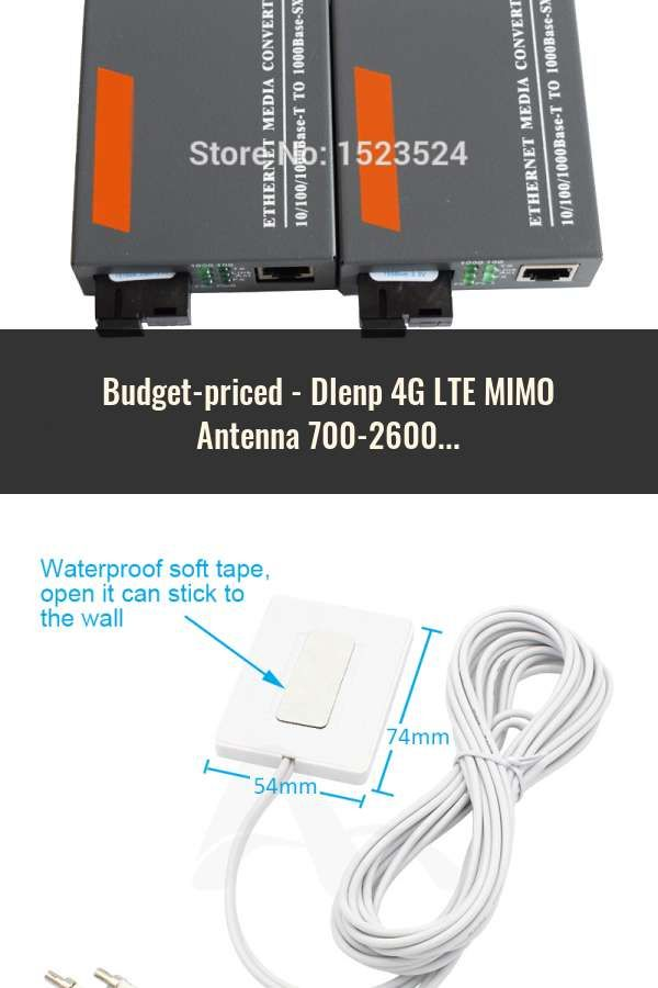 Dlenp 4G LTE MIMO Antenna 700-2600Mhz With 2- TS9 Male