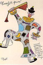 Zdenek Seydl<br /> Kostýmní návrh k baletu<br /> E.F. Buriana Vojna - D 34<br /> (Praha 1955)