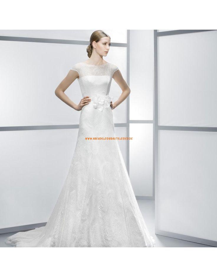 luxuri se kurze rmel a linie brautkleider aus spitze vestidos de novia jes s peir. Black Bedroom Furniture Sets. Home Design Ideas