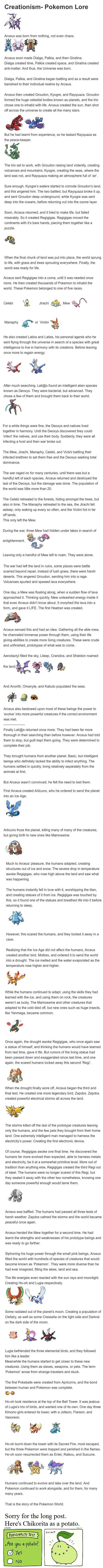 The history of the Pokémon world