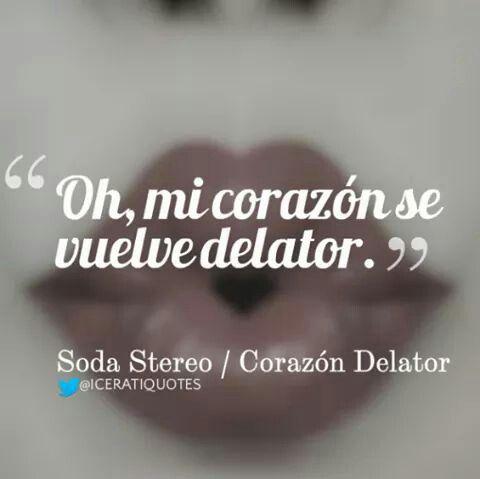 Hay algo oculto en cada sensación- Soda Stereo