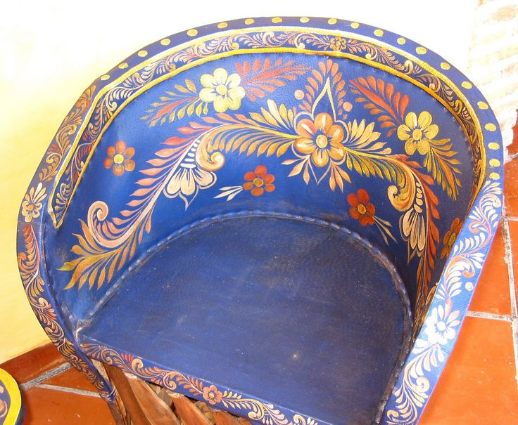mexican painted furniture - Bing Images - come sit awhile and visit www.mainlymexican.com #Mexico #Mexican #chair