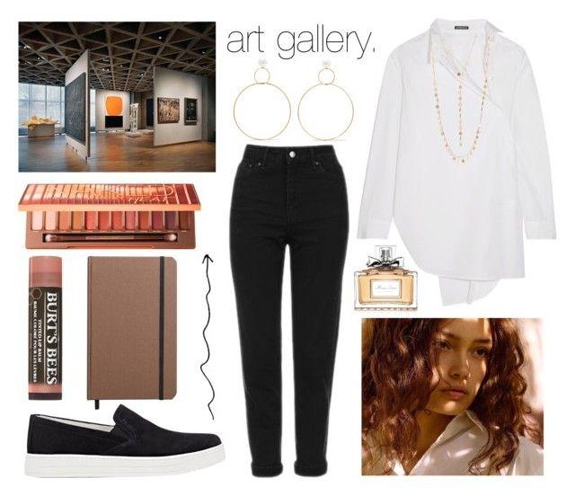"""art gallery."" by sunfayn on Polyvore featuring moda, Topshop, Prada Sport, Natasha Schweitzer, Ann Demeulemeester, Urban Decay, Shinola, Natasha e Christian Dior"