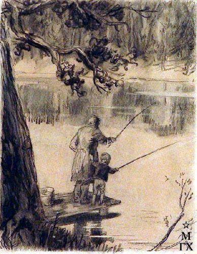 иллюстрации к произведениям аксакова при