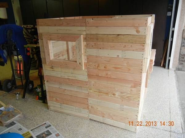 Pallet Wood Siding On A Playhouse Outdoor Living