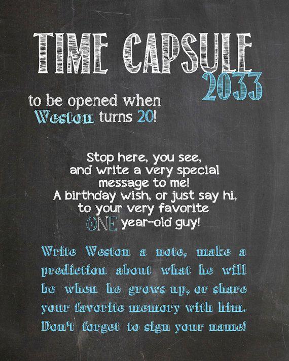Creative writing theme time capsule