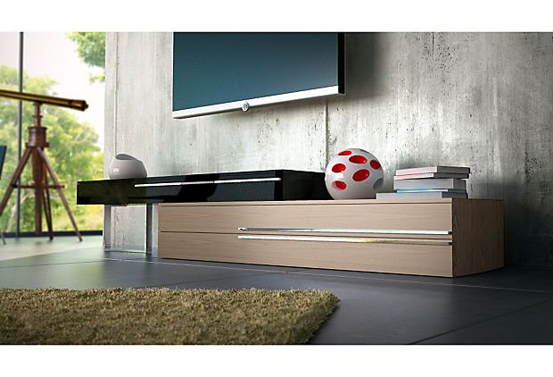 One Kings Lane - Contemporary Living - Gramercy Media Stand, Walnut