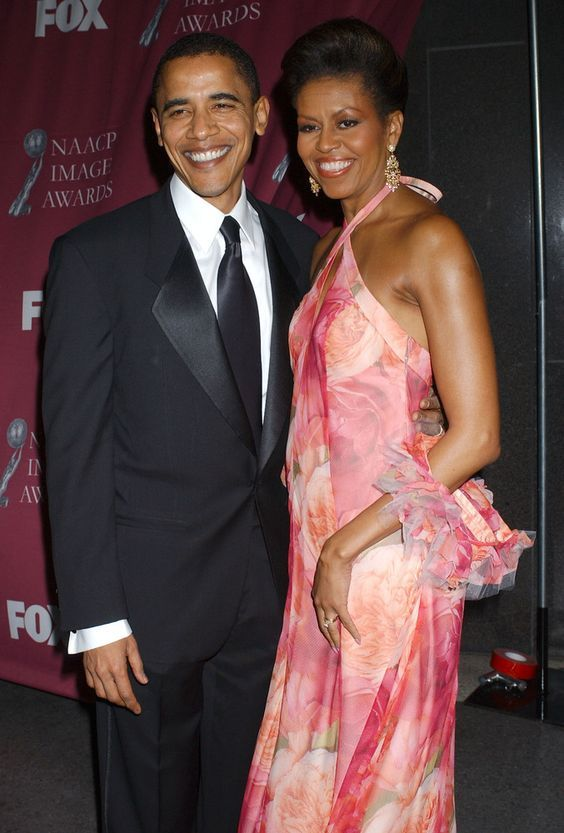#SenatorDays #44thPresident #BarackObama and his wife #FirstLady #MichelleObama arrive at the 36th #NAACP Image Awards at the Dorothy Chandler Pavilion on March 19, 2005 in Los Angeles, California Barack Obama was #honored with the #ChairmanAward #ObamaLegacy #ObamaLibrary #ObamaFoundation #Obama.Org