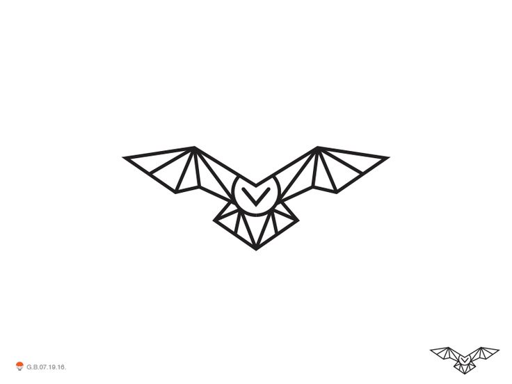 Owl Line Low Poly by George Bokhua #Design Popular #Dribbble #shots