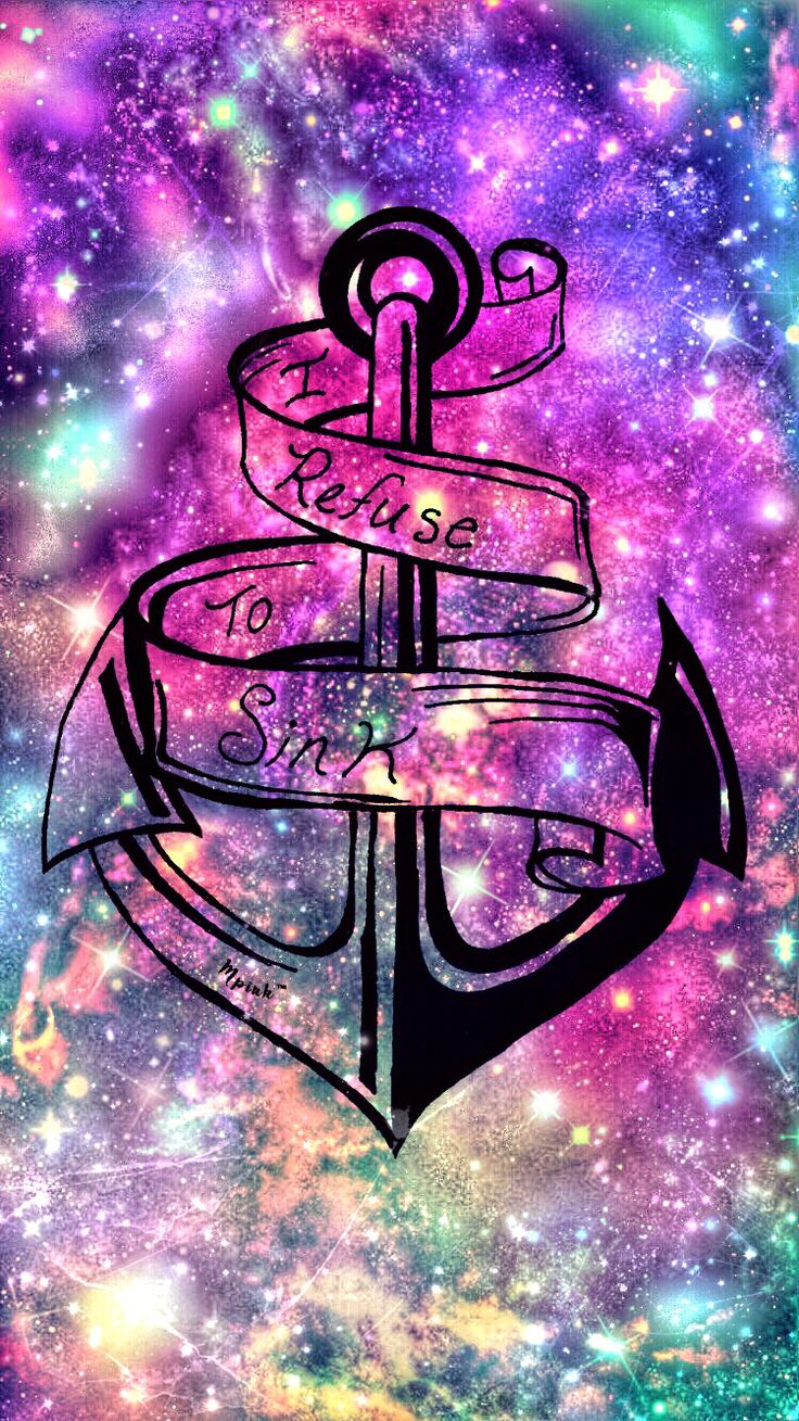 I Refuse To Sink Anchor Wallpaper/Lockscreen Girly, Cute
