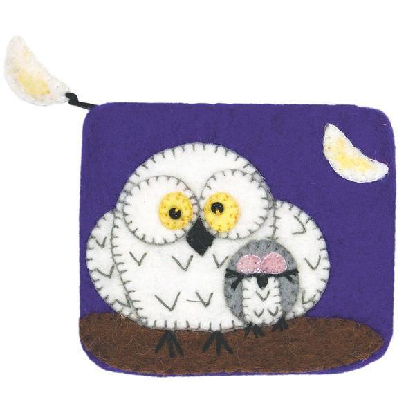 Felt Coin Purse - Night Owls Handmade and Fair Trade