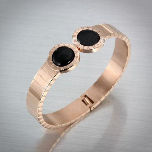 knockoff bvlgari rose gold bracelet plated with black enamel