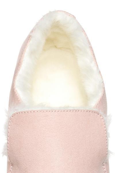 4285c93b5bcb35 Warm-lined slip-on trainers - Light pink - Ladies