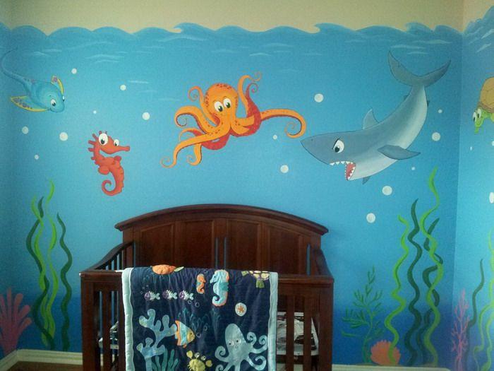 17 best ideas about ocean mural on pinterest painted wall murals murals and mural ideas - Ocean themed bedroom ...