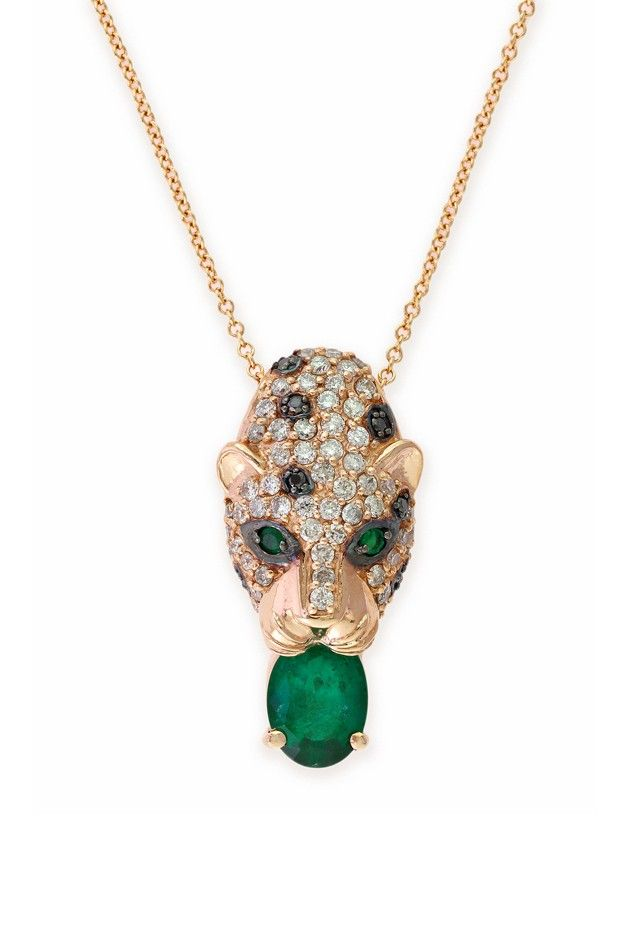 Signature Rose Gold Emerald & Diamond Pendant, 1.83 TCW
