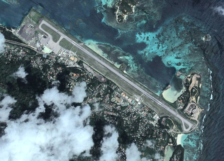Eagles view of Air Seychelles international airport #Seychelles #airport