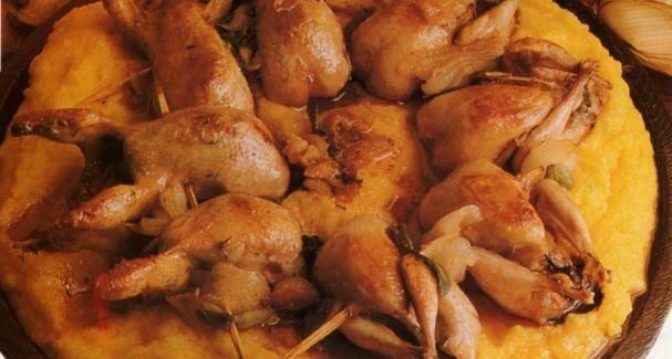 """Polenta e osei"", typical second course in #Veneto and #LakeGarda | #food #dish #cooking"