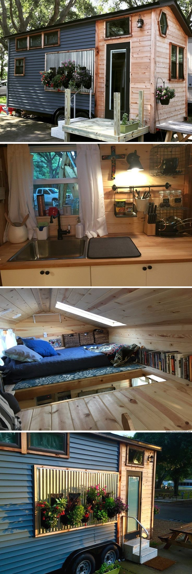A 210 sq ft tiny house, featured on Tiny House Hunters, and now available for sale in Florida.