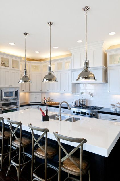traditional kitchen by Candlelight Homes  light fixtures