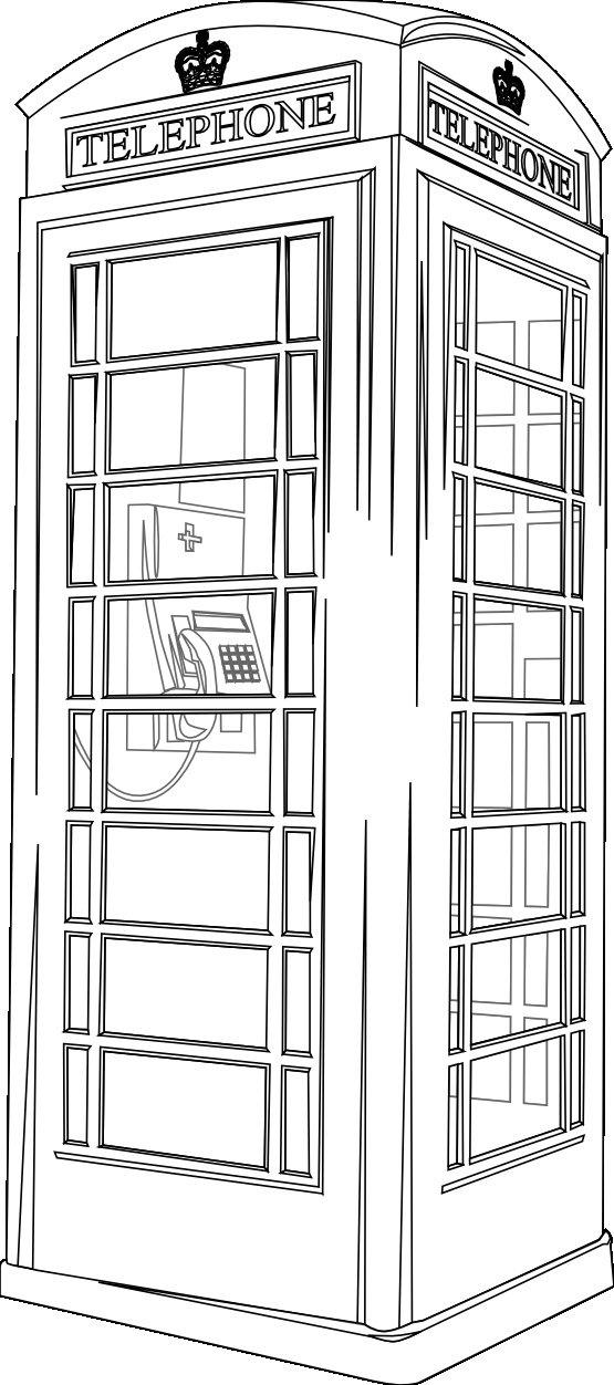 How To Draw The Front Elevation Of A Building : Telephone box line drawing tekenen pinterest boxes
