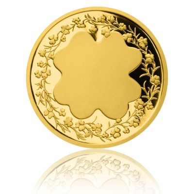 Zlatý dukát Čtyřlístek pro štěstí s věnováním proof | Česká mincovna