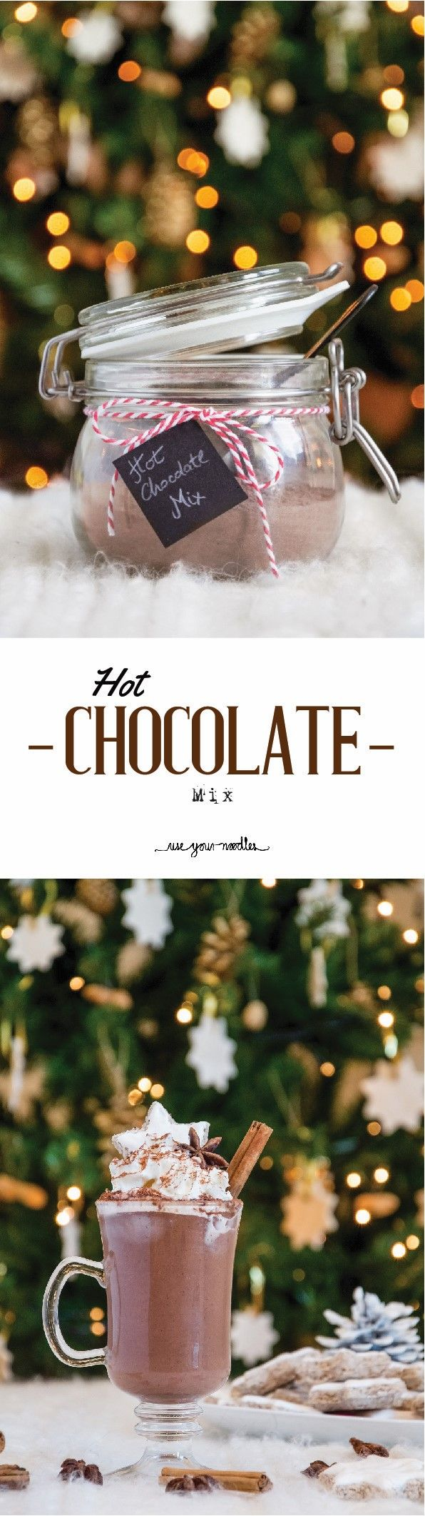 Homemade Hot Chocolate Mix. Let's get warm today with a little hot chocolate! It's time to make gifts, and I love homemade gifts. And this hot chocolate mix is a perfect gift.