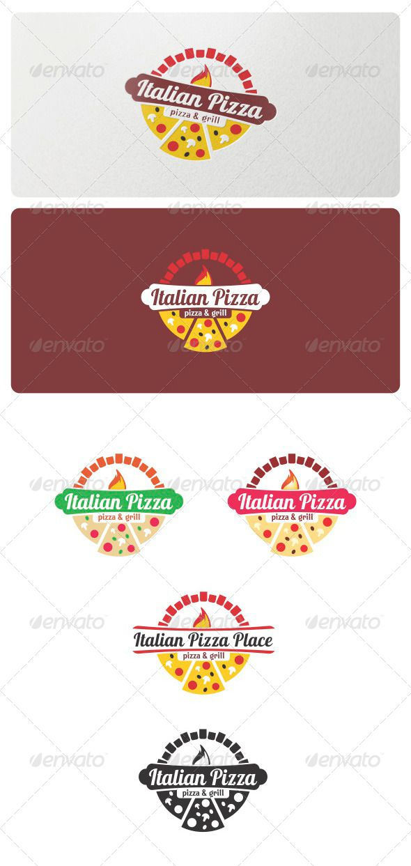Italian Pizza Logo Template - Food Logo Templates