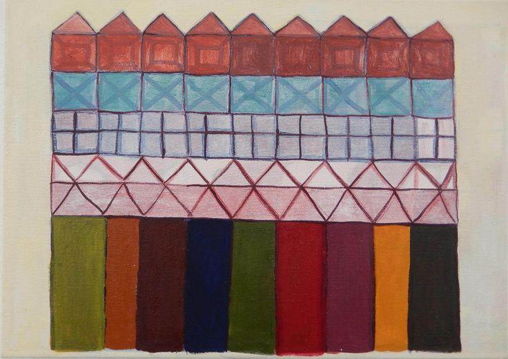 Digitale abstracte geometrie kunst; download en druk af door VeraNievelstein op Etsy