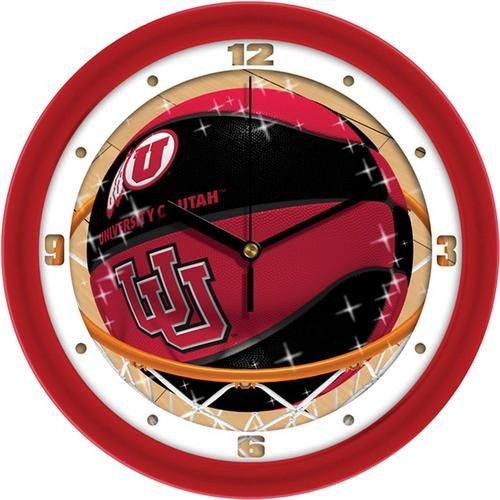 University of Utah Utes Basketball Wall Clock