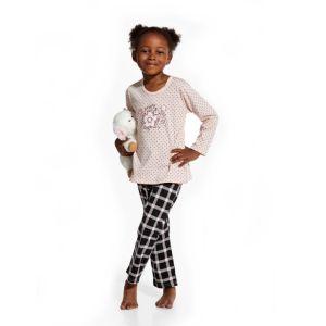 De Cornette Pretty kinderpyjama van Corazonkids zalm roze met geruite broek. De Cornette kinderpyjama van CorazonKids met een geruite broek is erg mooi en hip.. Het shirt heeft een leuke opdruk. De Cornette kinderpyjama van CorazonKids is van goede kwaliteit.