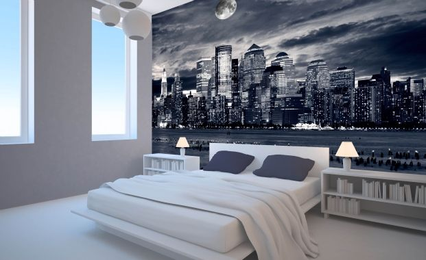 I like this idea - though I am not a big advocate of dark colours in the bedroom.