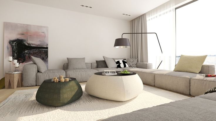 Presvetlená obývačka