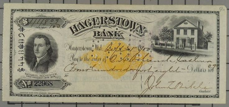 US $4.95 Used in Collectibles, Paper, Bank Checks & Drafts-SR