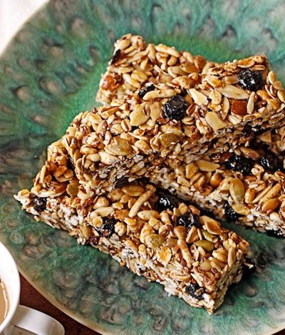 Blueberry Pumpkin Seed Energy Bars