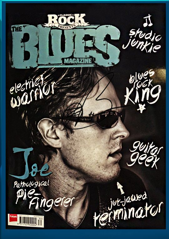 Bonamassa Blues Magazine exclusive hand signed collectible