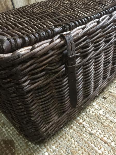 Vintage Basket, Hamper - Preloved Vintage & Contemporary Furniture - Lovingly Made Garden & Home Vintage Boutique Sussex