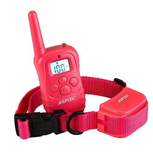 Special Offers - [New Arrival] AGPtek Rechargeable Wireless LCD digital dog Training Shock collar with 100LV of Shock and Vibration Remote Control  Pink Version - In stock & Free Shipping. You can save more money! Check It (July 01 2016 at 08:56PM) >> http://doghousesusa.net/new-arrival-agptek-rechargeable-wireless-lcd-digital-dog-training-shock-collar-with-100lv-of-shock-and-vibration-remote-control-pink-version/
