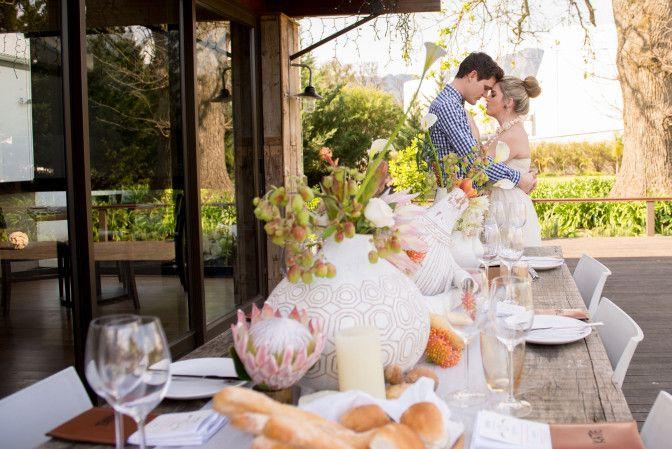 African Styled wedding Shoot #BeachWedding - Table Setting