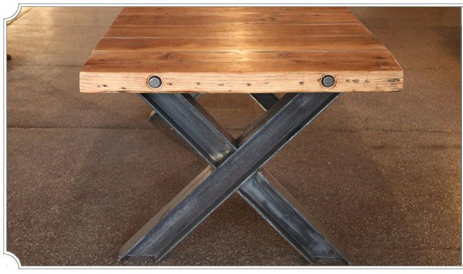 Dining Table: Williamsburg X by Olga Guanabara Furniture Brooklyn, NY